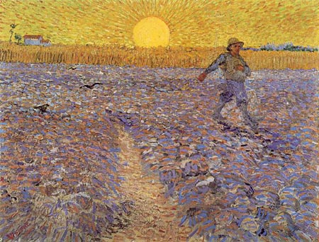 A0000-00VanGogh-Vincent 1888 Sower with Setting Sun